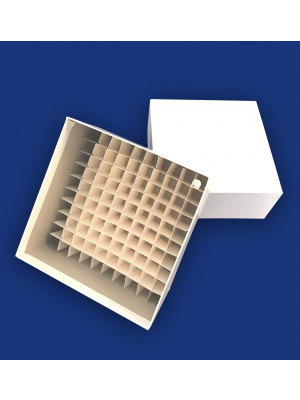 75mm High Cardboard Box with cell dividers