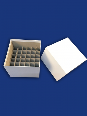 Cardboardboxes for centrifuge tubes with dividers