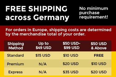 Free Shipping on Germany